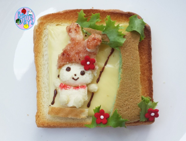 Food Art: My Melody on swing toast art | Bento Days
