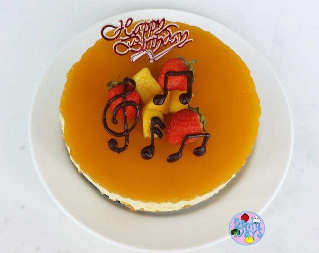 Mango cheesecake with mango mirror jelly | Bento Days