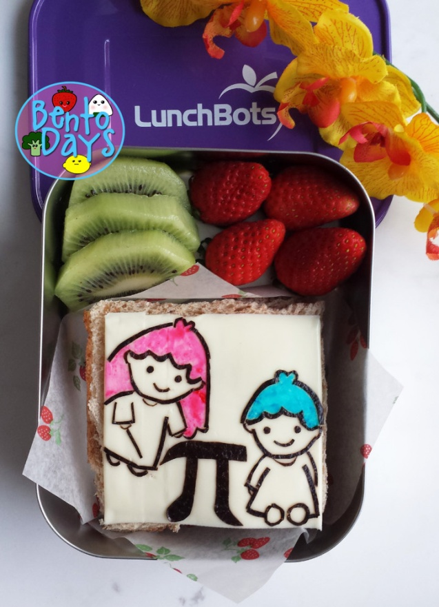 Little Twin Stars Pi Day bento | Bento Days