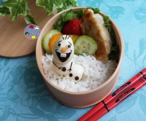 Frozen movie Olaf snowman bento | Bento Days