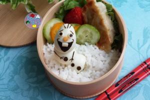 Frozen movie Olaf snowman bento | Bento Days