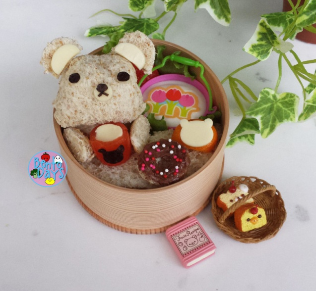 Rilakkuma afternoon tea bento | Bento Days