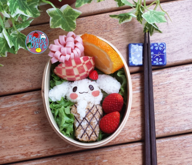 Cinamoroll ice cream bento | Bento Days