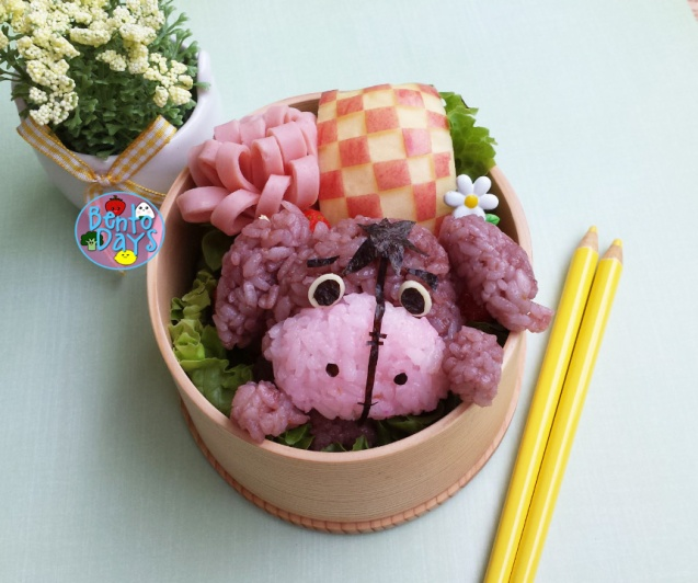 Eeyore bento, Winnie the Pooh bento   Bento Days