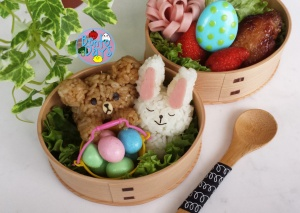 Brown and Cony LINE Easter bento | Bento Days