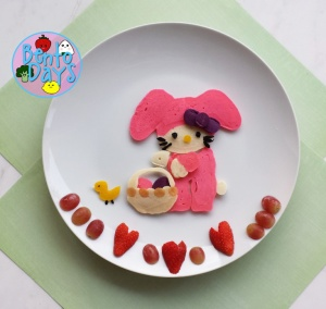 Hello Kitty, My Melody Easter pancake art | Bento Days