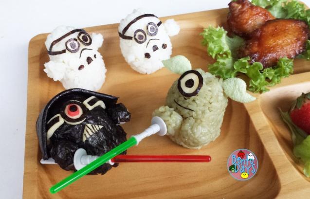 Star Wars Minions cosplay bento: Darth Vader, Yoda and Stormtroopers bento | Bento Days