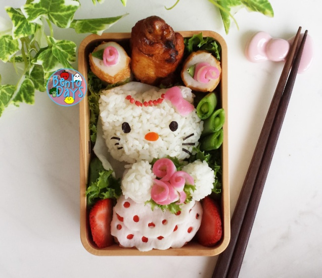 Hello Kitty Bride wedding bento | Bento Days