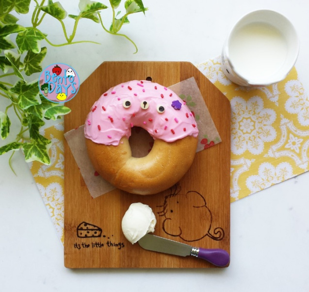 Doughnut bagel bento | Bento Days