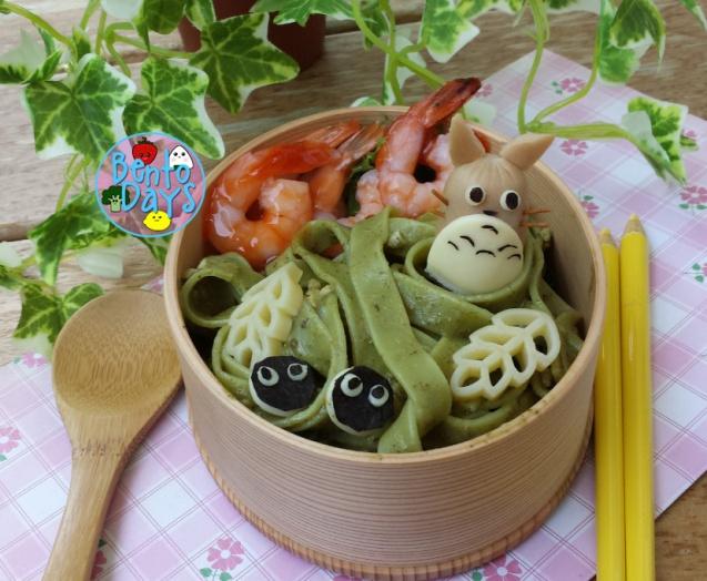 Totoro pasta bento | Bento Days