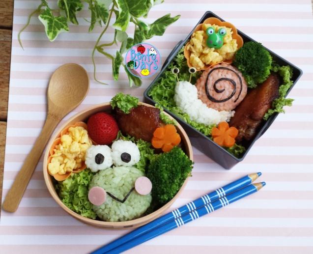 Keroppi and snail bento | Bento Days