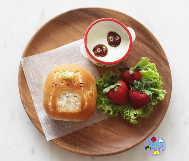Totoro breakfast plate | Bento Days