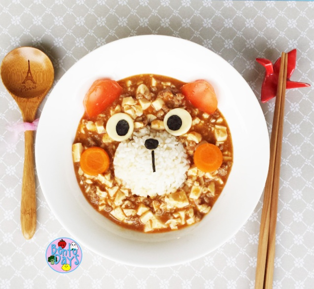Mapo tofu bear lunch plate | Bento Days