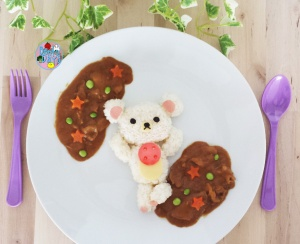 Korilakkuma bear Curry Lunch Plate | Bento Days
