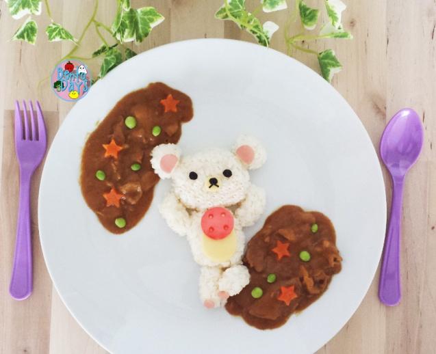 Korilakkuma bear Curry Lunch Plate | Bento Days