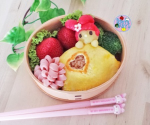 My Melody Omurice bento | Bento Days