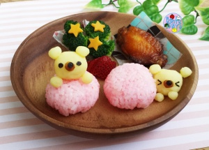 Hide and Seek mashed potato bears lunch plate | Bento Days