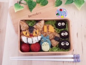 Catbus and mashed potato Totoro bento | Bento Days