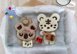 CuteZCute Cuddlepalz koala and tiger studying bento | Bento Days