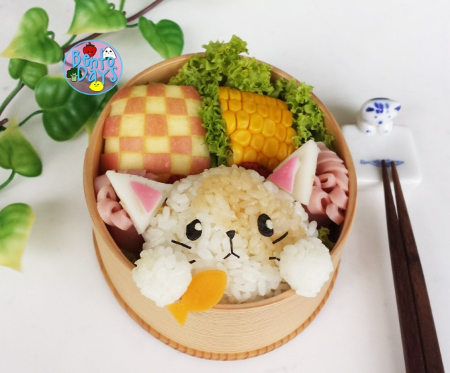 Cat and Fish bento | Bento Days