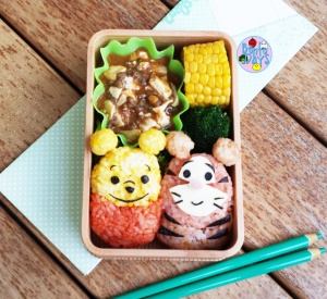 Baby Pooh and Tigger bento | Bento Days