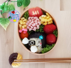 Girl with camera bento | Bento Days