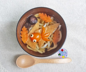 Udon Soup with goldfish | Bento Days