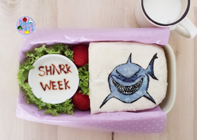 Shark Week bento: Bruce the Great White Shark from Finding Nemo | Bento Days