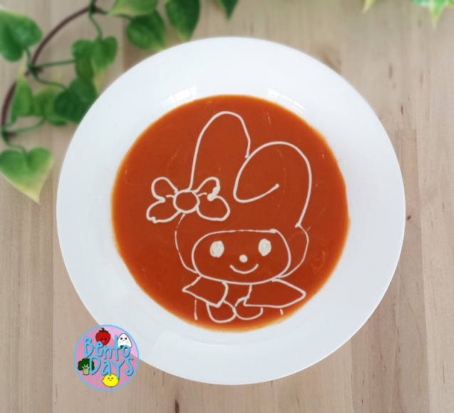 My Melody soup art | Bento Days