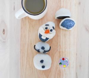 Cute Olaf Snowskin Mooncake   Bento Days