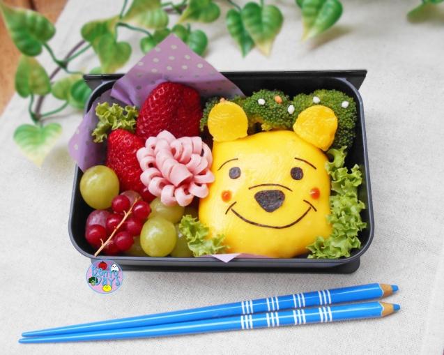 Winnie the Pooh Omurice bento | Bento Days