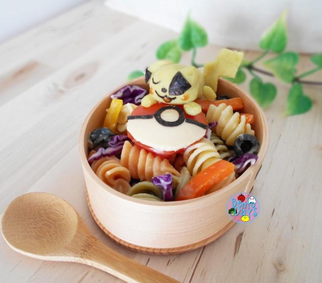 Pikachu Pasta Salad | Bento Days