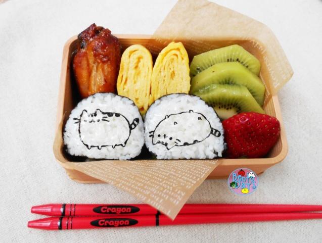 Pusheen Maki Sushi bento | Bento Days