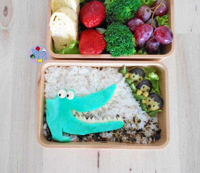 Roald Dahl Enormous Crocodile bento food art