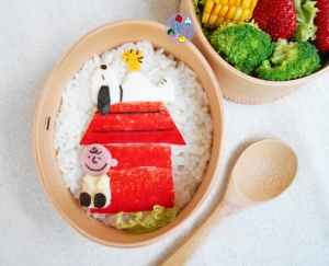 Snoopy bento food art