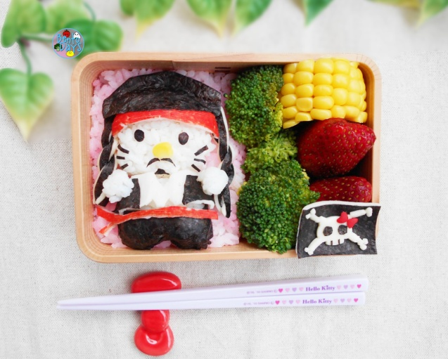 Hello Kitty Pirate bento