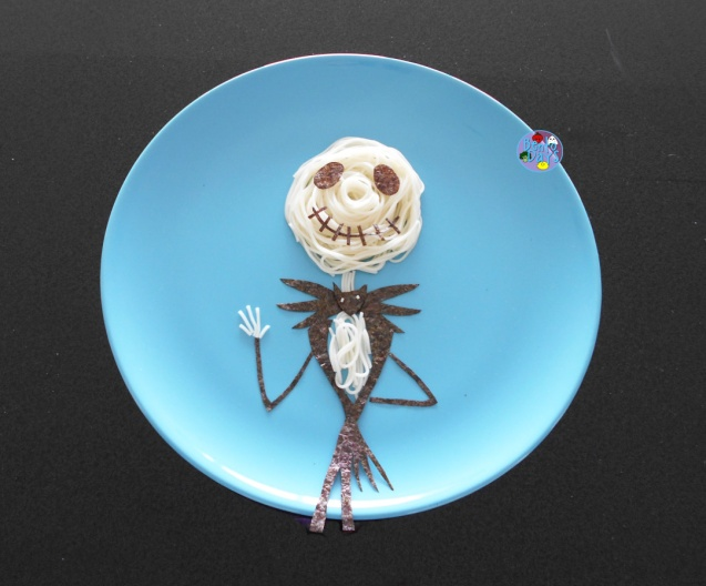 Jack Skellington Somen  Halloween Food Art