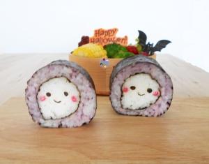 Ghost Sushi halloween bento