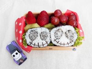 Jack Skellington Sushi Halloween bento