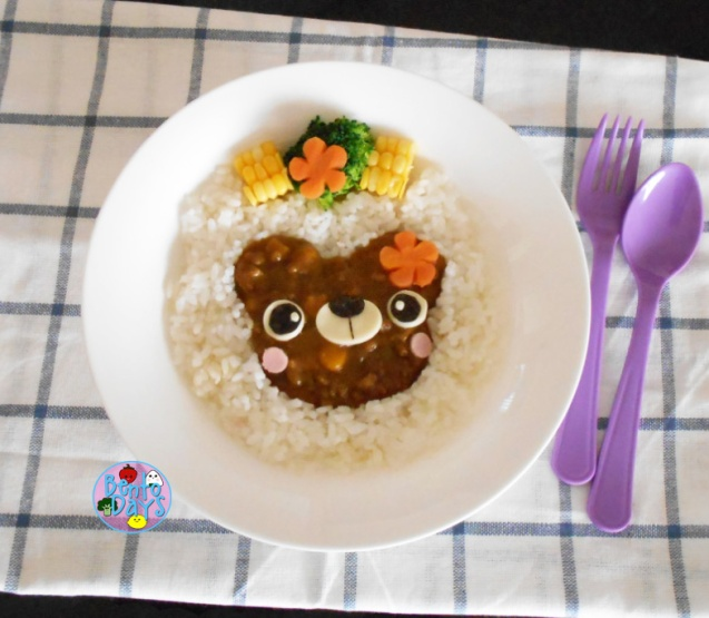 Bear Curry Rice bento