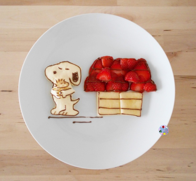 Snoopy food art bento