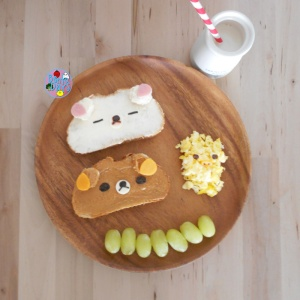 Rilakkuma breakfast plate bento