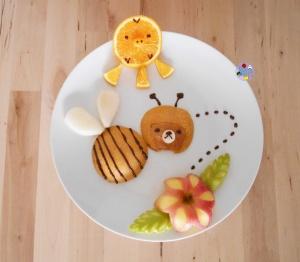 Rilakkuma Bee Fruit Plate