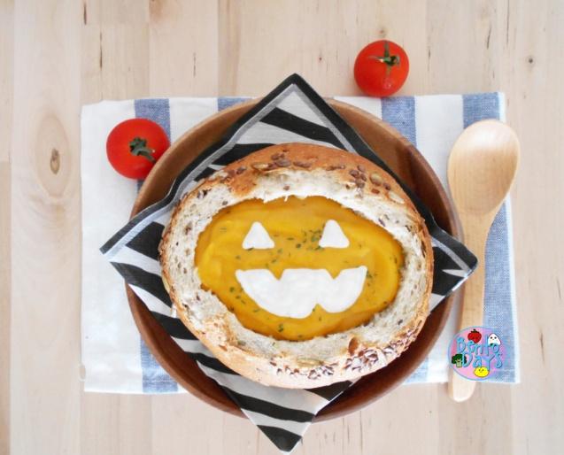 Jack-O-Lantern Bread Bowl