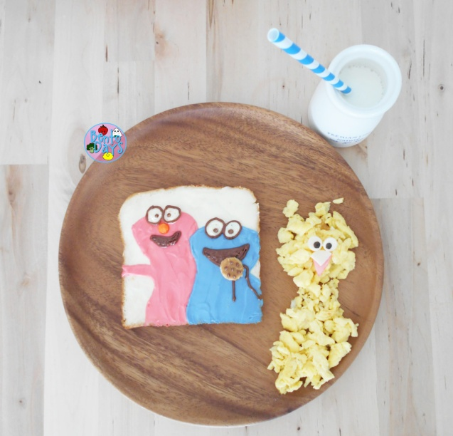 Elmo and Cookie Monster bento