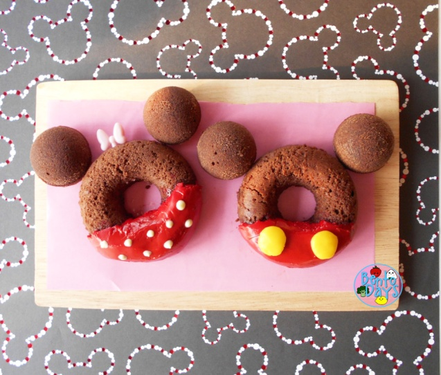 Mickey and Minnie Chocolate Donuts