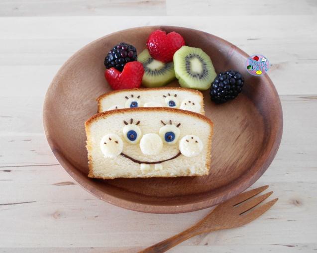 Spongebob Pound Cake Bento
