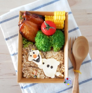 Olaf fried rice bento
