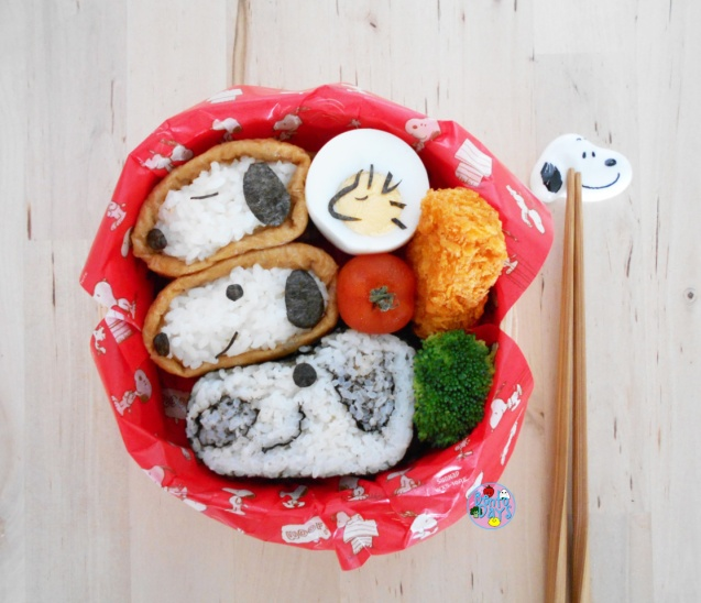 Snoopy sushi bento