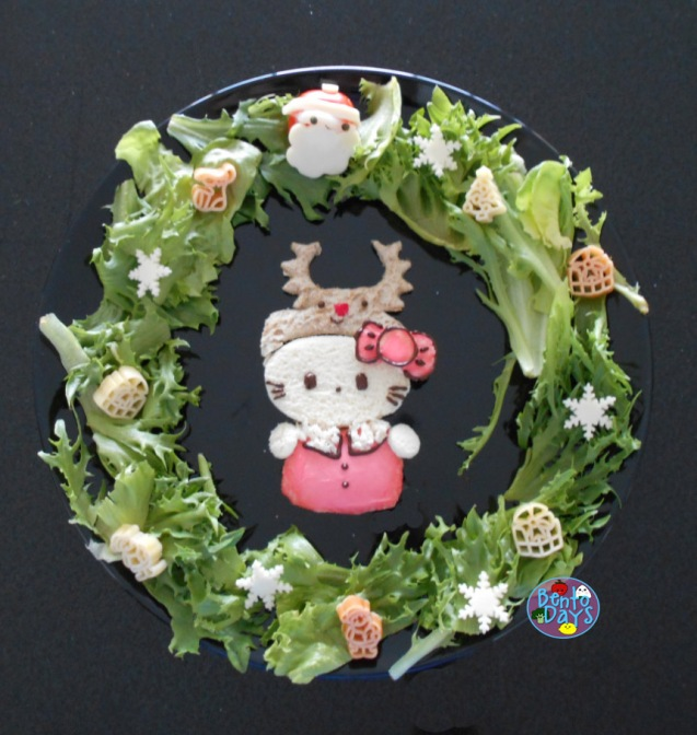 Hello Kitty Reindeer Christmas Food Art